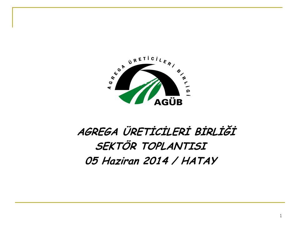 2 Vizyonumuz Türkiye'de; kaliteli ve Avrupa standartlarına uygun beton/asfalt agregası üretilmesi ve bunun yaygınlaşmasının sağlanması KURULUŞ : Aralık 2001 (üye: 9 45)