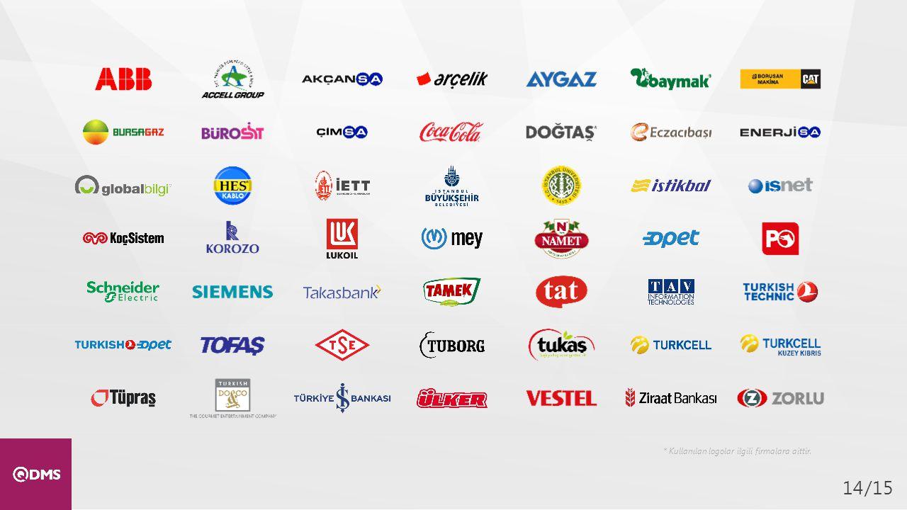 /1514 * Kullanılan logolar ilgili firmalara aittir.