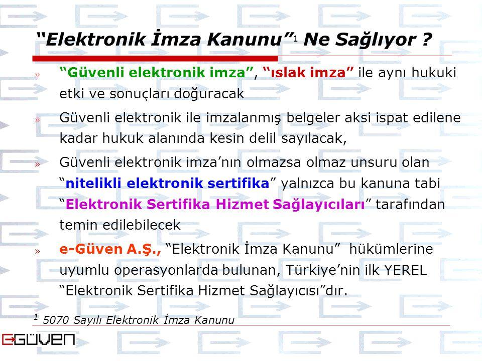 Elektronik İmza Kanunu 1 Ne Sağlıyor .