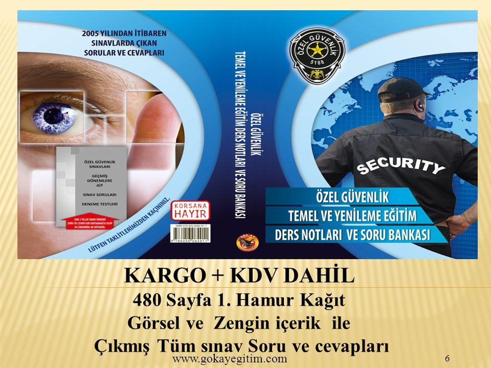 www.gokayegitim.com 6 KARGO + KDV DAHİL 480 Sayfa 1.