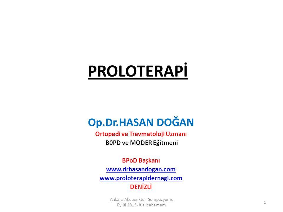 Neden Proloterapi.Kronik hastalıklarda Klasik tıbbın başarısı .