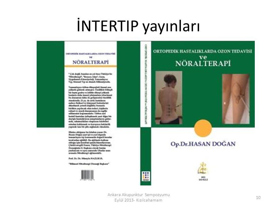 İNTERTIP yayınları 10 Ankara Akupunktur Sempozyumu Eylül 2013- Kızılcahamam