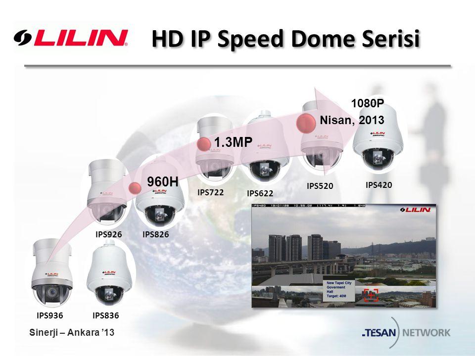 HD IP Speed Dome Serisi IPS836IPS936 IPS826IPS926 IPS622 IPS722 IPS420 IPS520 960H 1.3MP 1080P Nisan, 2013 Sinerji – Ankara '13