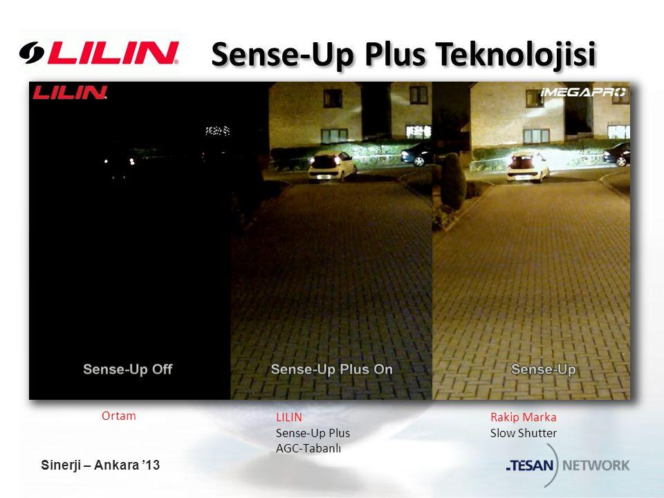 Sense-Up Plus Teknolojisi Rakip Marka Slow Shutter LILIN Sense-Up Plus AGC-Tabanlı Ortam Sinerji – Ankara '13