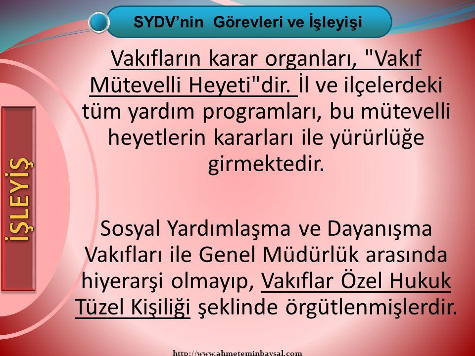 http://www.ahmeteminbaysal.com Vakıfların karar organları,