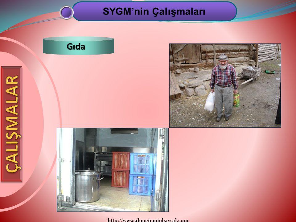 http://www.ahmeteminbaysal.com SYGM'nin Çalışmaları Gıda