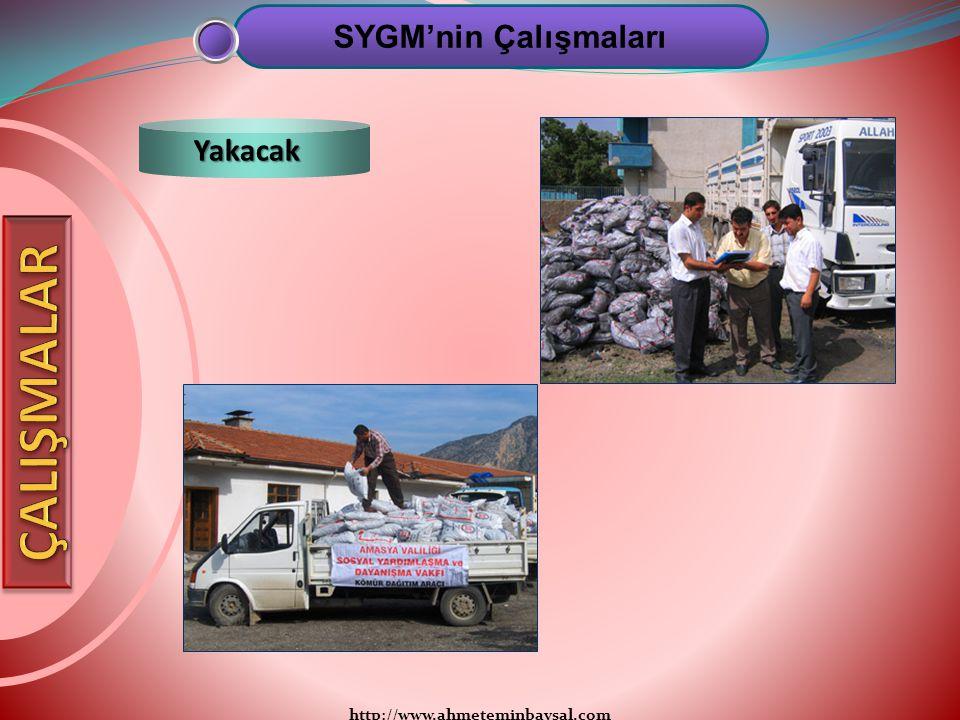 http://www.ahmeteminbaysal.com SYGM'nin Çalışmaları Yakacak