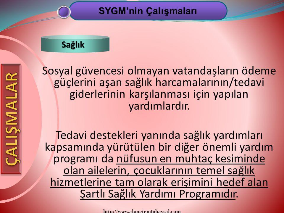 http://www.ahmeteminbaysal.com Sosyal güvencesi olmayan vatandaşların ödeme güçlerini aşan sağlık harcamalarının/tedavi giderlerinin karşılanması için