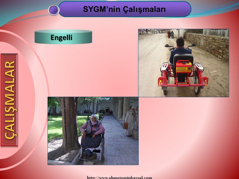 http://www.ahmeteminbaysal.com SYGM'nin Çalışmaları Engelli