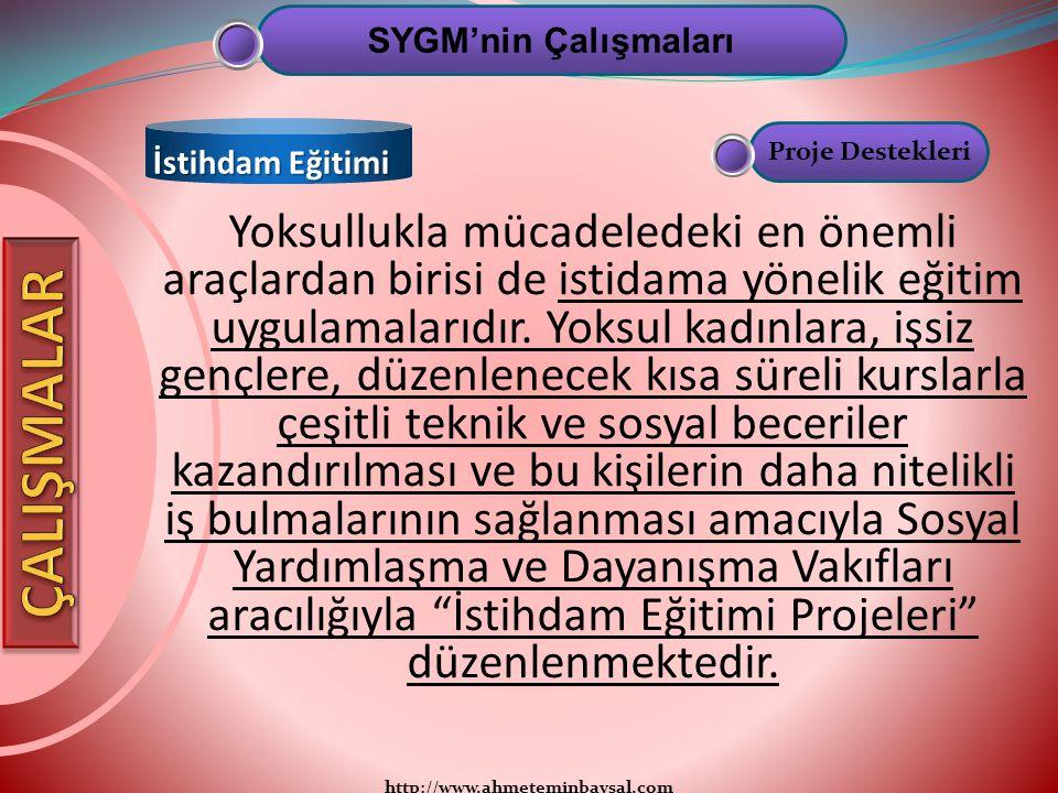 http://www.ahmeteminbaysal.com Yoksullukla mücadeledeki en önemli araçlardan birisi de istidama yönelik eğitim uygulamalarıdır. Yoksul kadınlara, işsi