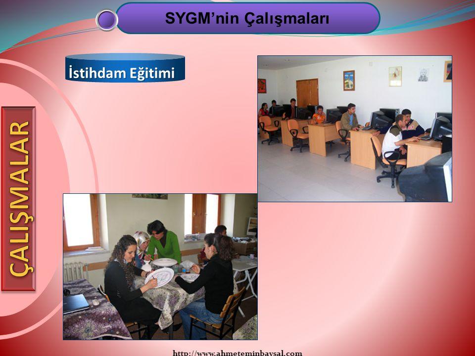 http://www.ahmeteminbaysal.com SYGM'nin Çalışmaları İstihdam Eğitimi