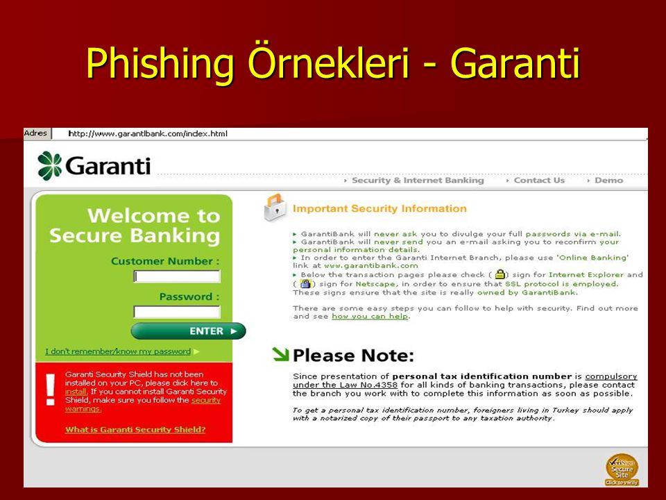 16 Phishing Örnekleri - Garanti