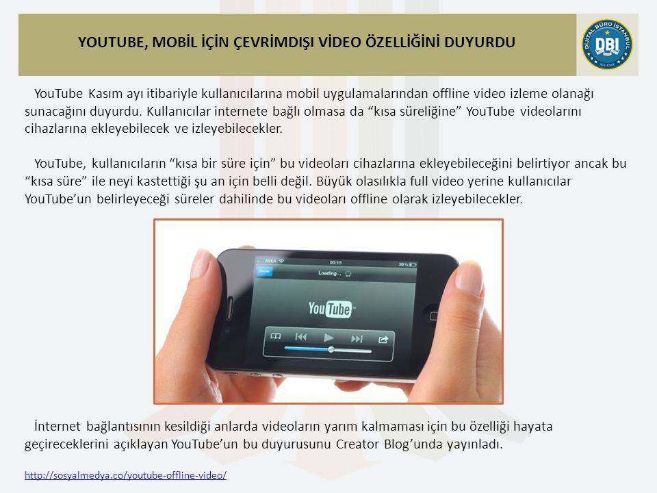 http://sosyalmedya.co/youtube-offline-video/ YouTube Kasım ayı itibariyle kullanıcılarına mobil uygulamalarından offline video izleme olanağı sunacağını duyurdu.