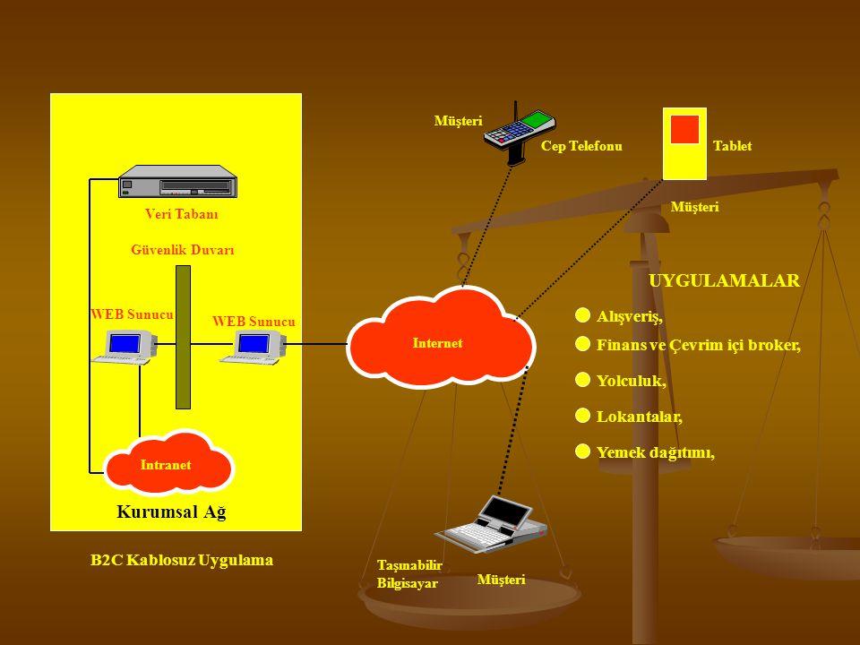 Taşınabilir Bilgisayar WEB Sunucu Güvenlik Duvarı Veri Tabanı Intranet Internet Cep TelefonuTablet Kurumsal Ağ B2C Kablosuz Uygulama Müşteri UYGULAMALAR Alışveriş, Finans ve Çevrim içi broker, Yolculuk, Lokantalar, Yemek dağıtımı,