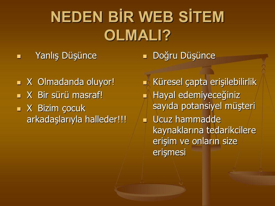 BİR WEB SİTESİNDE OLMAZSA OLMAZLAR NELER.