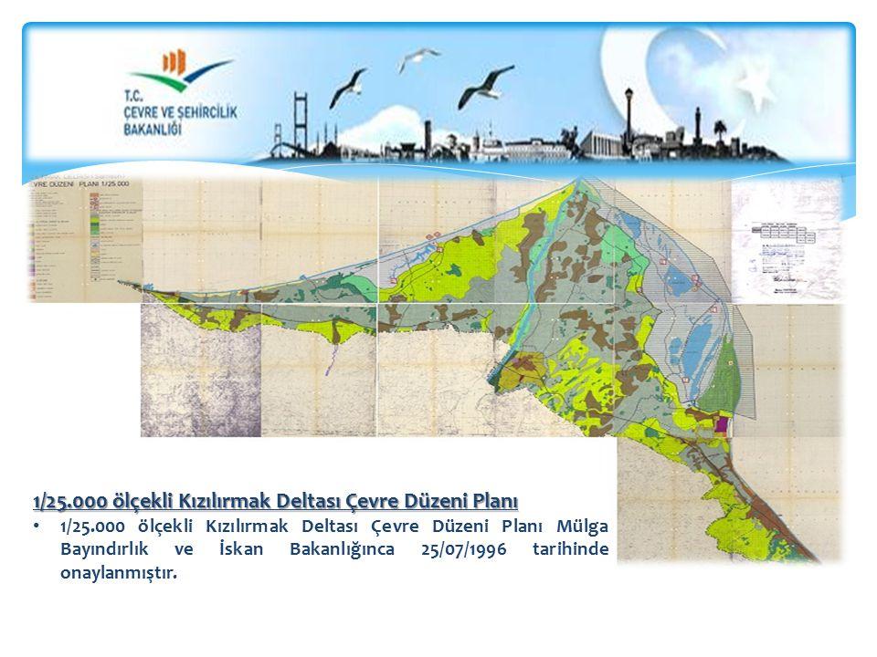 1/25.000 ölçekli Kızılırmak Deltası Çevre Düzeni Planı 1/25.000 ölçekli Kızılırmak Deltası Çevre Düzeni Planı Mülga Bayındırlık ve İskan Bakanlığınca 25/07/1996 tarihinde onaylanmıştır.