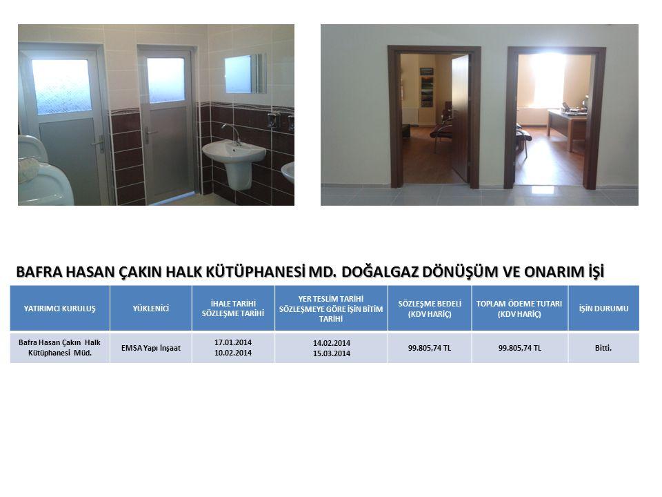 BAFRA HASAN ÇAKIN HALK KÜTÜPHANESİ MD.