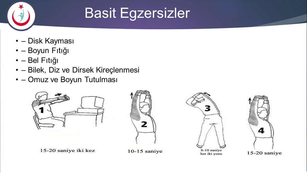 Basit Egzersizler – Disk Kayması – Boyun Fıtığı – Bel Fıtığı – Bilek, Diz ve Dirsek Kireçlenmesi – Omuz ve Boyun Tutulması