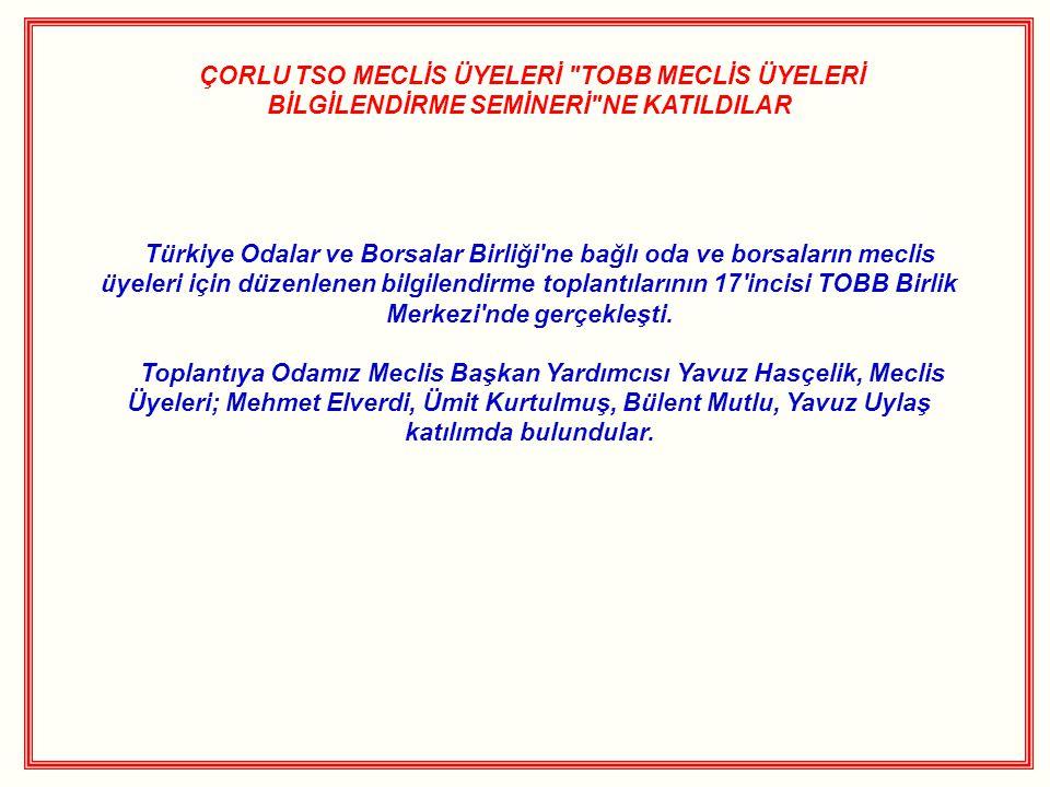 ÇORLU TSO MECLİS ÜYELERİ