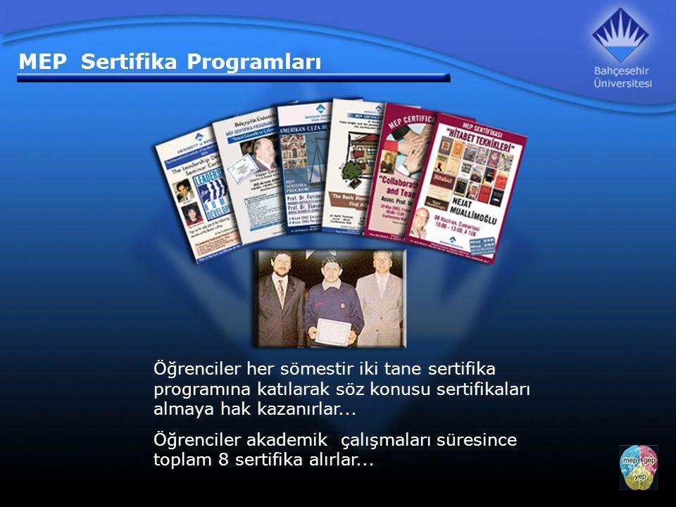 Öğrenciler her sömestir iki tane sertifika programına katılarak söz konusu sertifikaları almaya hak kazanırlar...