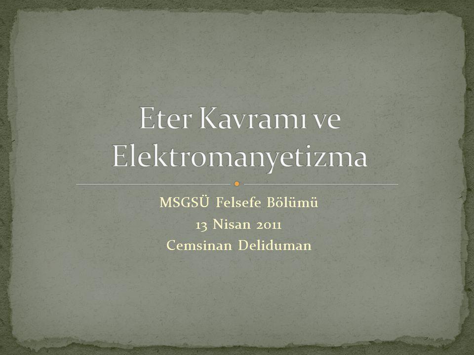 MSGSÜ Felsefe Bölümü 13 Nisan 2011 Cemsinan Deliduman