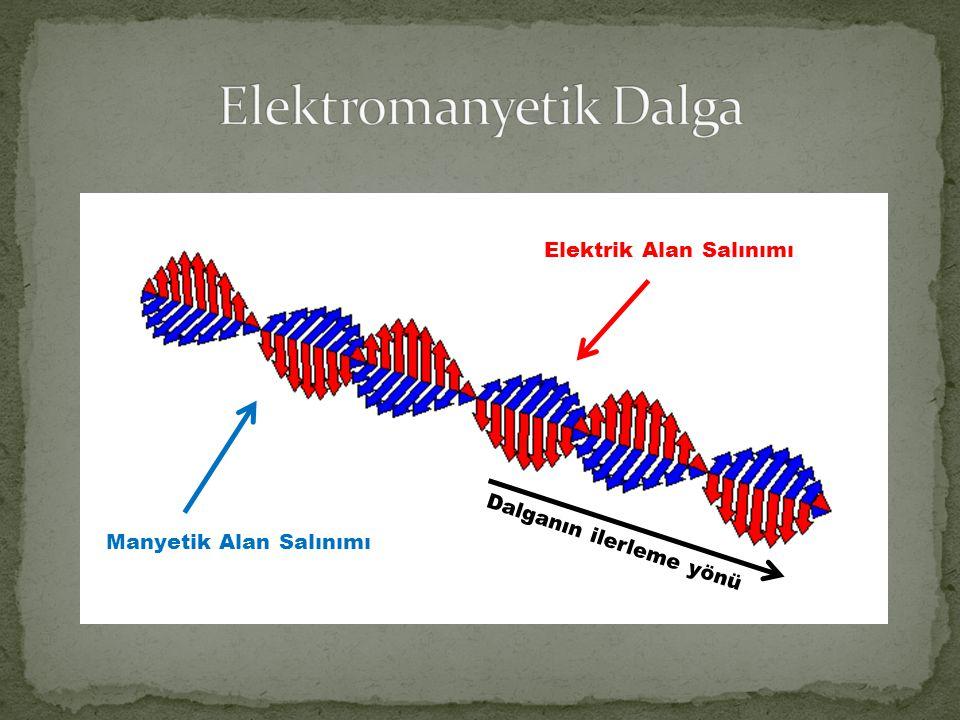 Manyetik Alan Salınımı Elektrik Alan Salınımı Dalganın ilerleme yönü
