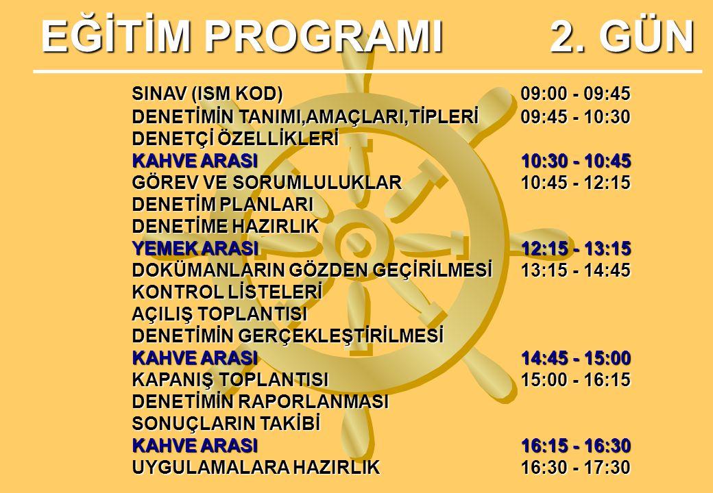 EĞİTİM PROGRAMI 2.