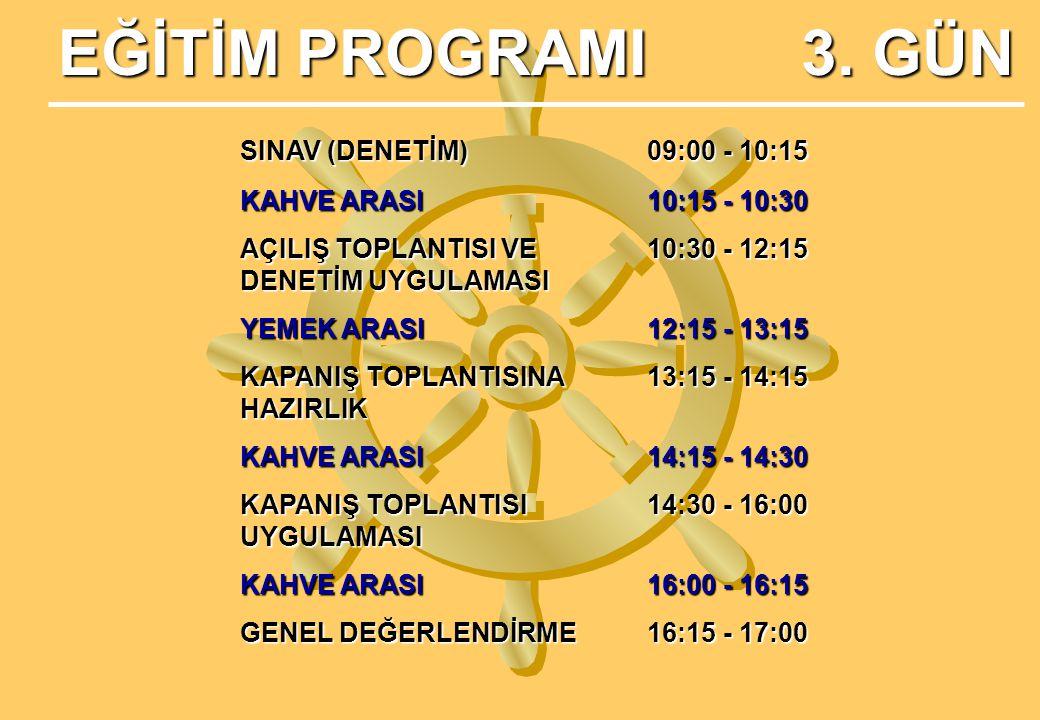 EĞİTİM PROGRAMI 3.