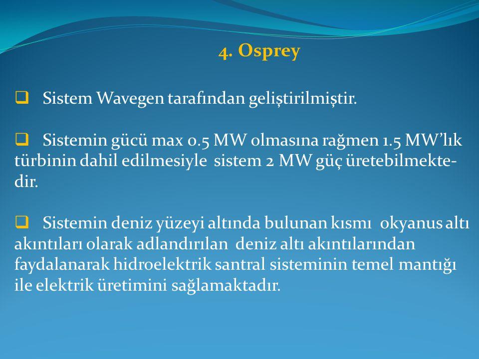 4.Osprey  Sistem Wavegen tarafından geliştirilmiştir.