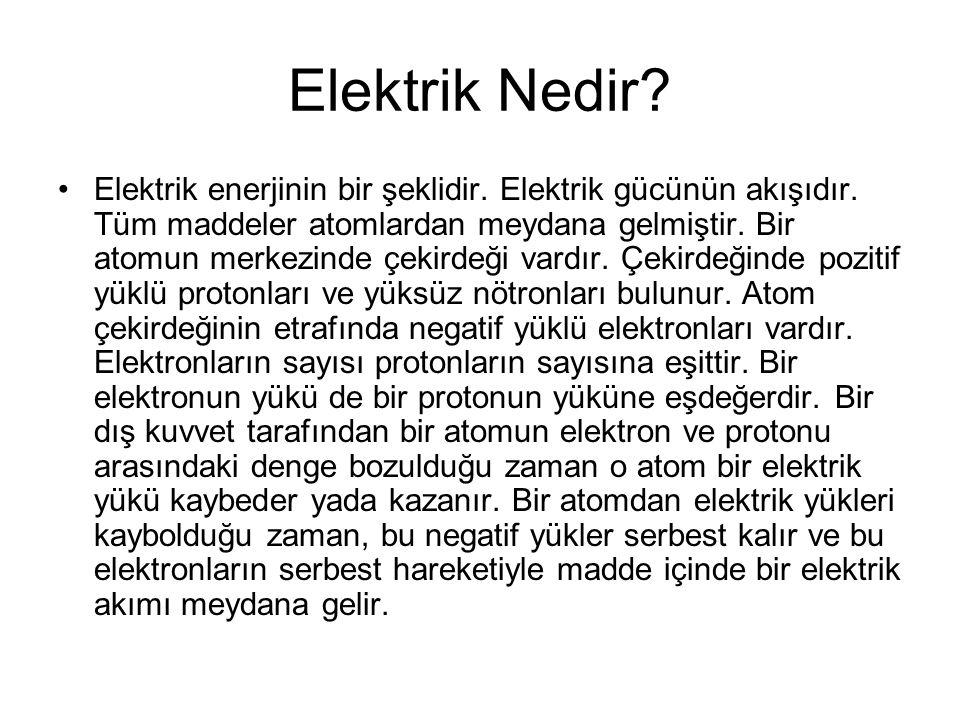 Elektrik doğal yapının bir parçasıdır.Şu anda en çok kullanılan enerji formudur.