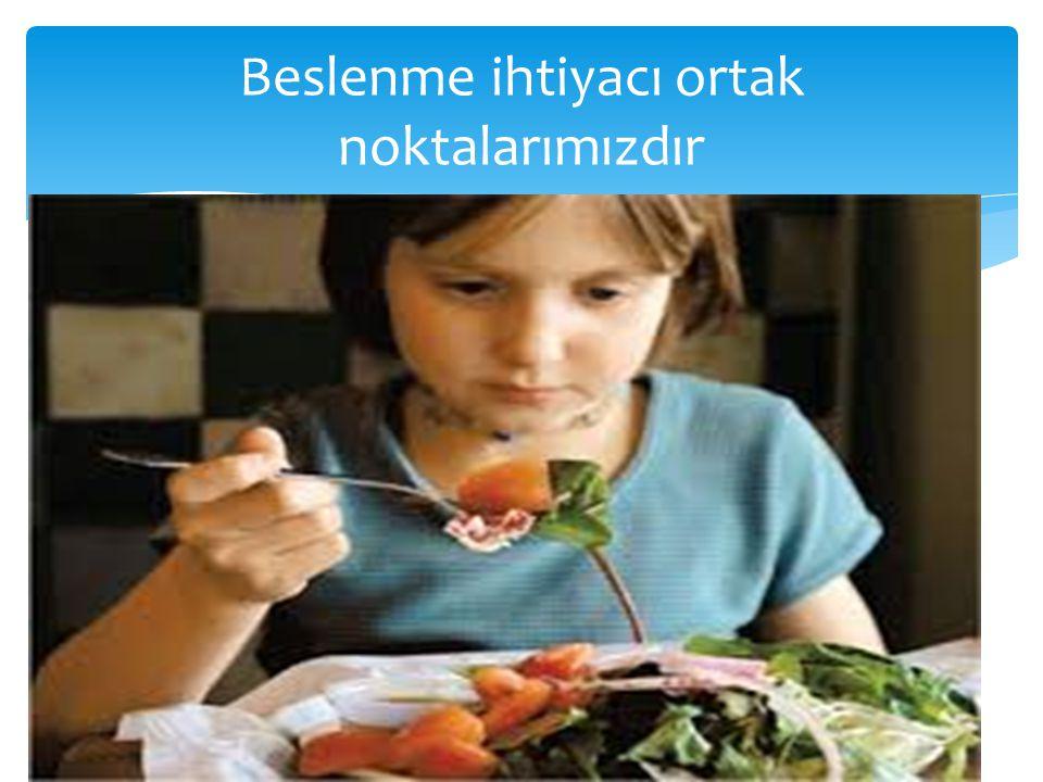 Beslenme ihtiyacı ortak noktalarımızdır