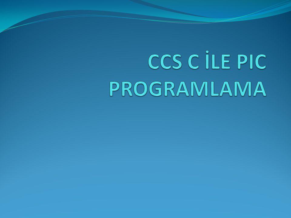 CCS C DERLEYİCİSİ CCS firması Microchip firması tarafından PIC denetleyicileri için C dilinde programlanmasını sağlayan tümleşik yazılımlar geliştiren bir firmadır.