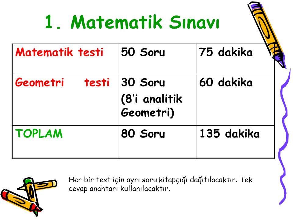 Haziran ayının 3. yarısında iki hafta sonunda yapılacak.(15 - 16 – 22 ve 23 Haziran 2013) olan sınavda toplam 5 farklı sınav uygulaması yapılcaktır.Bu