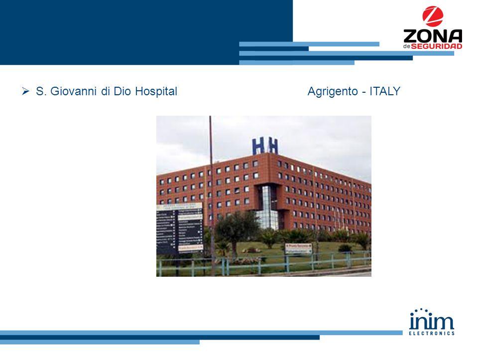  S. Giovanni di Dio HospitalAgrigento - ITALY