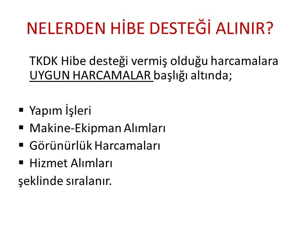 NELERDEN HİBE DESTEĞİ ALINIR.