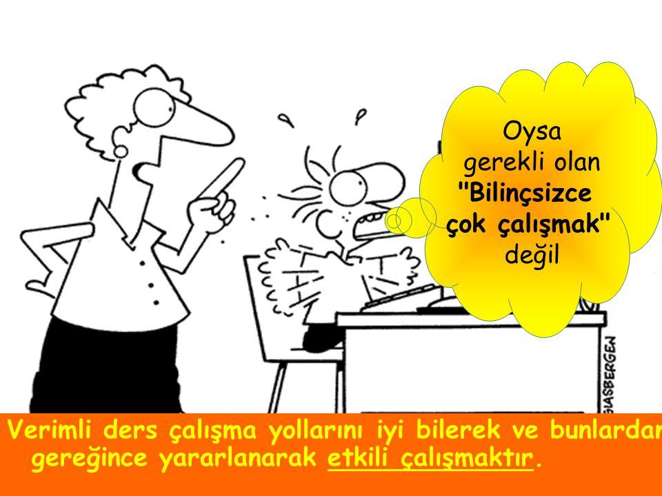 §Y§Yemeklerden yarım saat sonra çalışmaya başlayın.