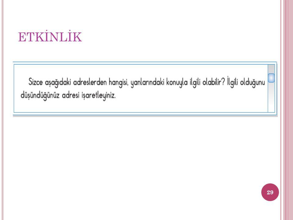 ETKİNLİK 29