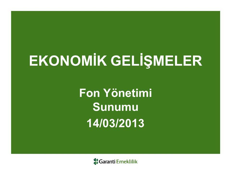EKONOMİK GELİŞMELER Fon Yönetimi Sunumu 14/03/2013