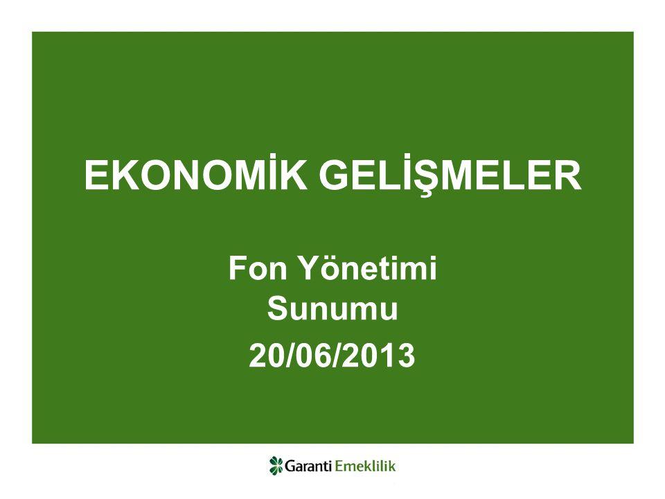 EKONOMİK GELİŞMELER Fon Yönetimi Sunumu 20/06/2013