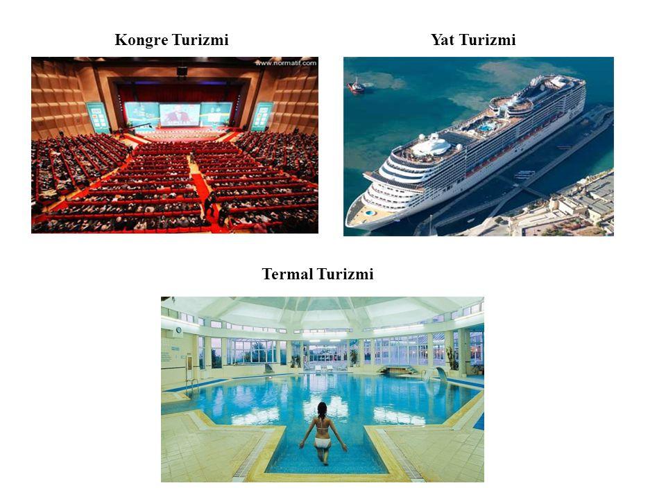 Kongre TurizmiYat Turizmi Termal Turizmi