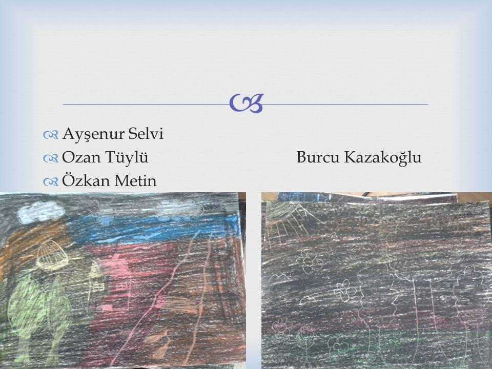   Ayşenur Selvi  Ozan Tüylü Burcu Kazakoğlu  Özkan Metin