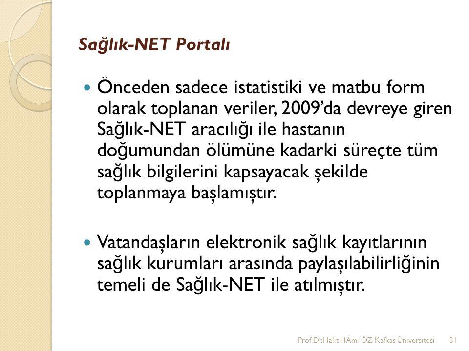 Sa ğ lık-NET Portalı Önceden sadece istatistiki ve matbu form olarak toplanan veriler, 2009'da devreye giren Sa ğ lık-NET aracılı ğ ı ile hastanın do