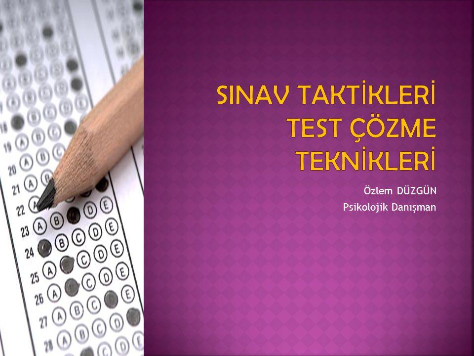 Yerleştirme sınavları içerik bakımından oldukça fazla konu kapsayan, psikolojik olarak ise bireyde gerginlik yaratan sınavlardır.