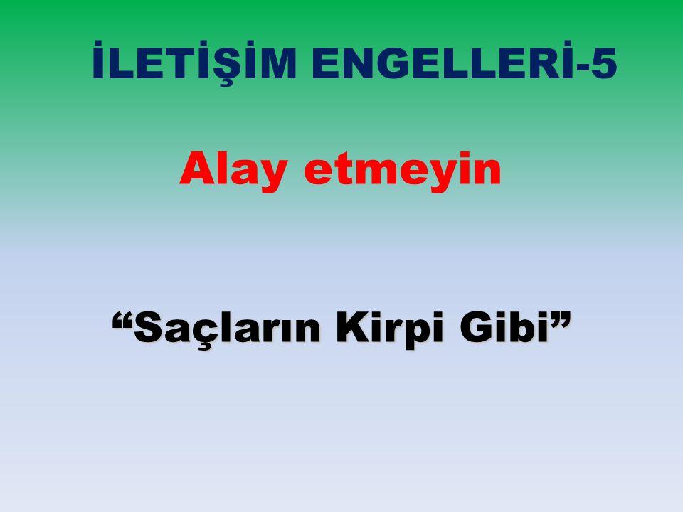 """İLETİŞİM ENGELLERİ-5 Alay etmeyin """"Saçların Kirpi Gibi"""""""