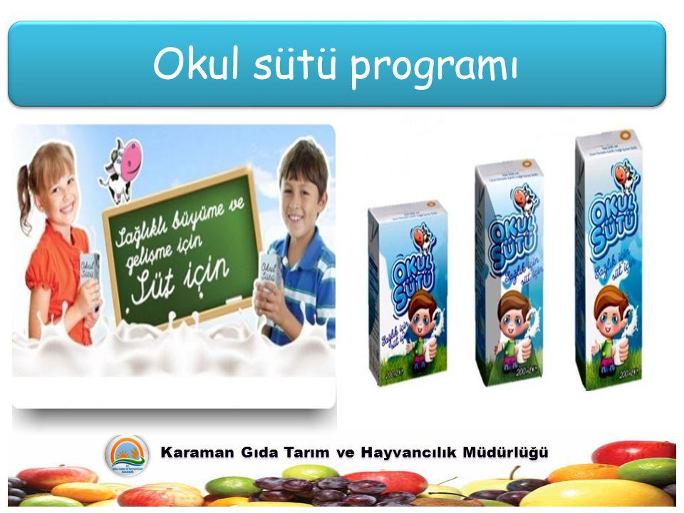 Okul sütü programı Karaman Gıda Tarım ve Hayvancılık Müdürlüğü Karaman Gıda Tarım ve Hayvancılık Müdürlüğü