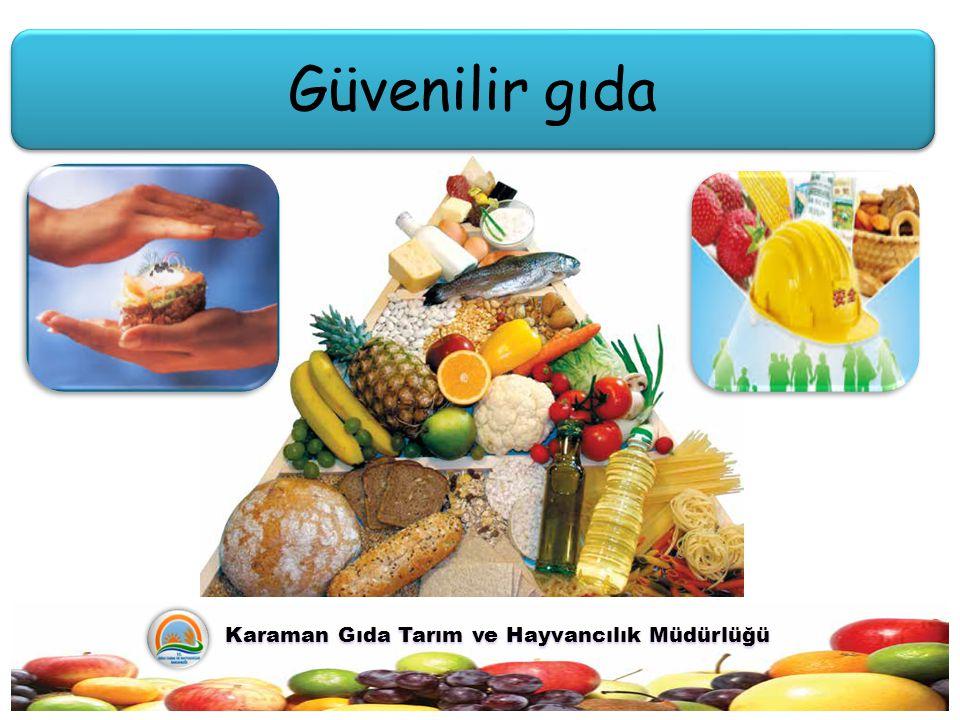 Güvenilir gıda Karaman Gıda Tarım ve Hayvancılık Müdürlüğü Karaman Gıda Tarım ve Hayvancılık Müdürlüğü