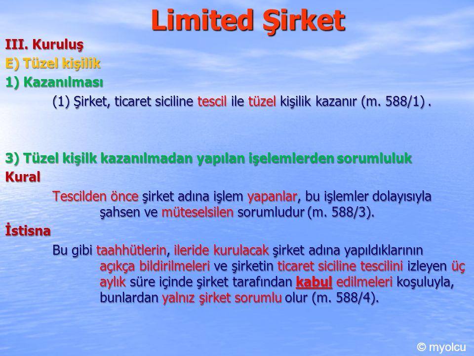 Limited Şirket III.