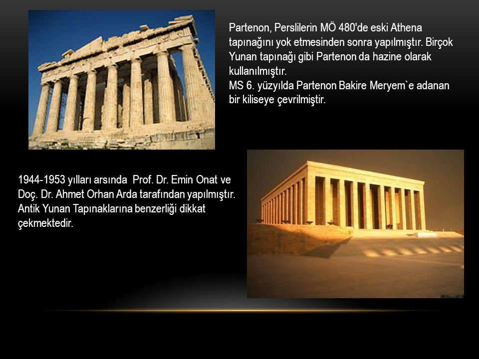 Partenon, Perslilerin MÖ 480'de eski Athena tapınağını yok etmesinden sonra yapılmıştır. Birçok Yunan tapınağı gibi Partenon da hazine olarak kullanıl