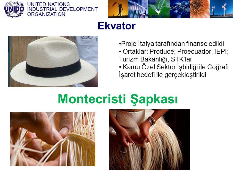 UNITED NATIONS INDUSTRIAL DEVELOPMENT ORGANIZATION Ekvator Proje İtalya tarafından finanse edildi Ortaklar: Produce; Proecuador; IEPI; Turizm Bakanlığ