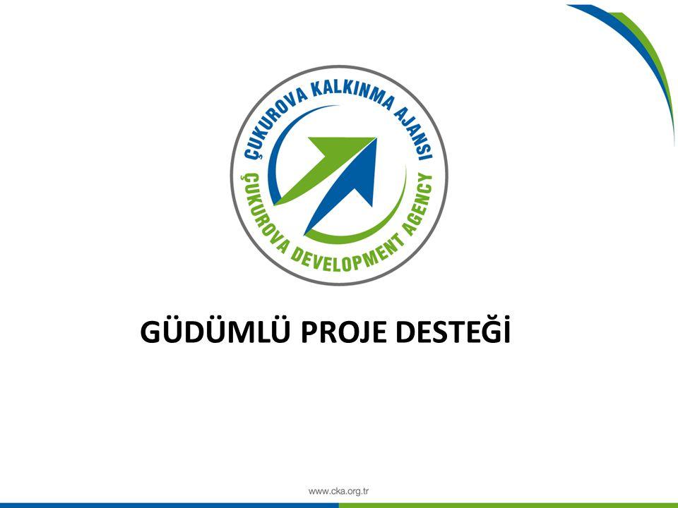 GÜDÜMLÜ PROJE GELİŞTİRME SÜRECİ Başlangıç toplantısı Mutabakat toplantısının yapılması ve ön mutabakat metninin oluşturulması Mutabakat Metni ve Ön Çalışma Metninin Yönetim Kurulu onayına sunulması Başvuru belgelerinin talep edilmesi (Başvuru Formu, İş Planı, Fizibilite Raporu gibi) Proje başvurusunun Ajans'a teslim edilmesi Değerlendirme ve Yönetim Kurulu onayı Kalkınma Bakanlığı onayı Sözleşmelerin imzalanması 1 ay 15 gün 180 gün 45 gün 20 gün Ön Hazırlık Aşaması (Güdümlü Proje Desteğinin tanıtılması, proje fikirlerinin toplanması, ilgili paydaşların belirlenmesi, …) 2-3 ay